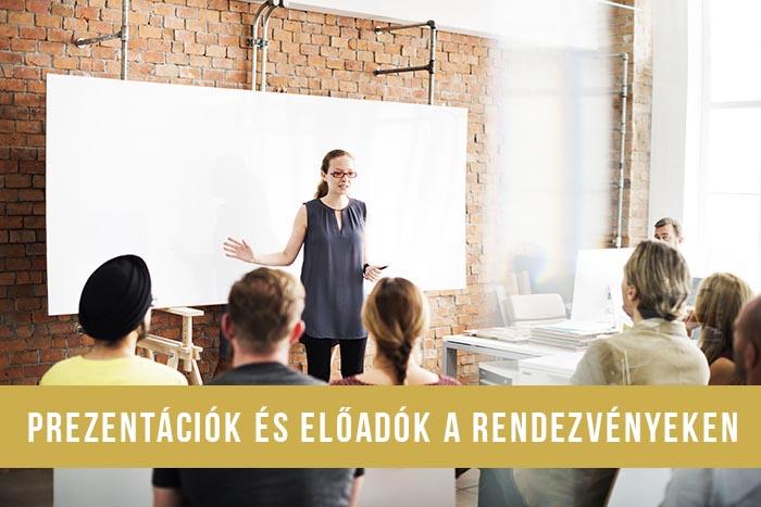 Prezentációk és előadók a rendezvényeken – Best practice