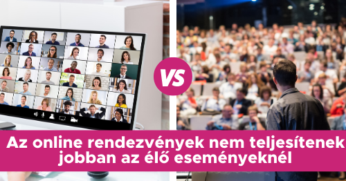 Az online rendezvények nem teljesítenek jobban az élő eseményeknél